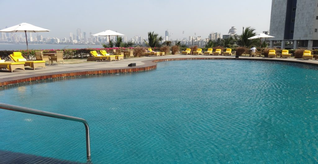 Rooftop pool at the Trident Nariman Point Hotel