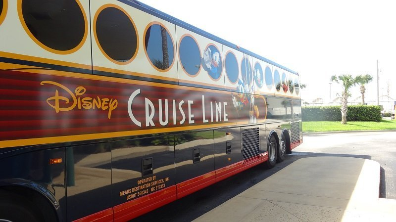We travelled to Port Canaveral on the Disney Cruise Line Transfer Bus