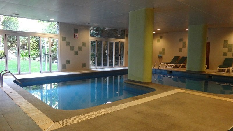 Best Places to Visit in September in Europe Indoor Pool at the Hotel Guillem & Spa in Encamp Andorra