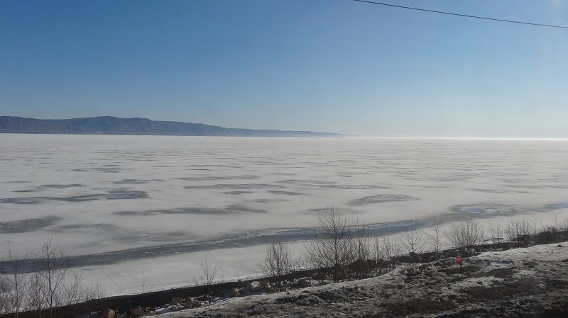 Lake Baikal was still frozen