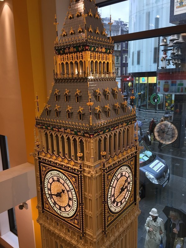 Big Ben at the Lego Shop in Leicester Square London