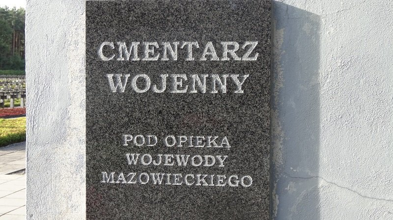 Cmentarz Wojenny War Cemetery in the forest of Palmiry outside Warsaw