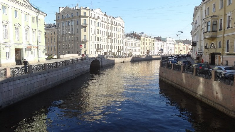 St Petersburg Canal outside the Domina Hotel