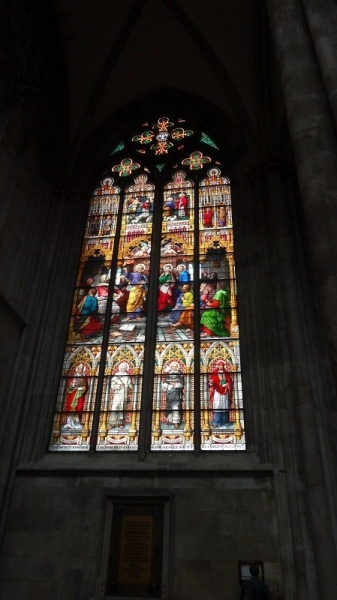 Beautiful Stained Glass Window Inside the Cathedral