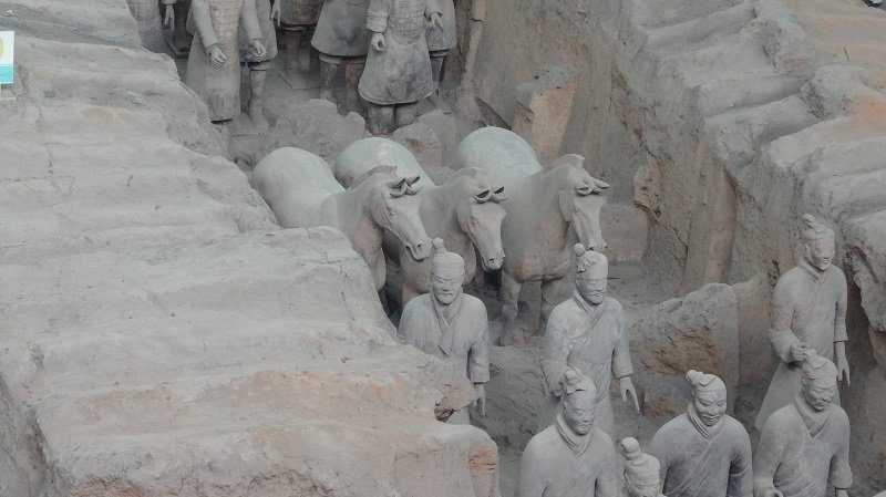 Travel Around the  World Without FlyingTerracotta Warriors in Xian China