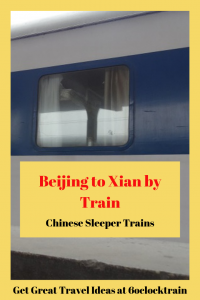 Travel from Beijing to Xian by overnight sleeper train. Leave Beijing in the evening and arrive in Xian, home of the Terracotta Warriors, in the morning. Get fabulous views of the Chinese countryside as you travel across China. Definitely the way to travel in China.