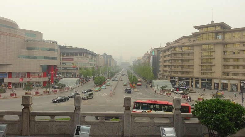 View of Xian from the Bell Tower