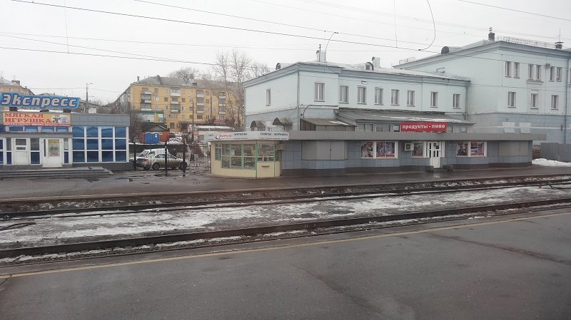 Many of the shops and kiosks were closed when our train stopped