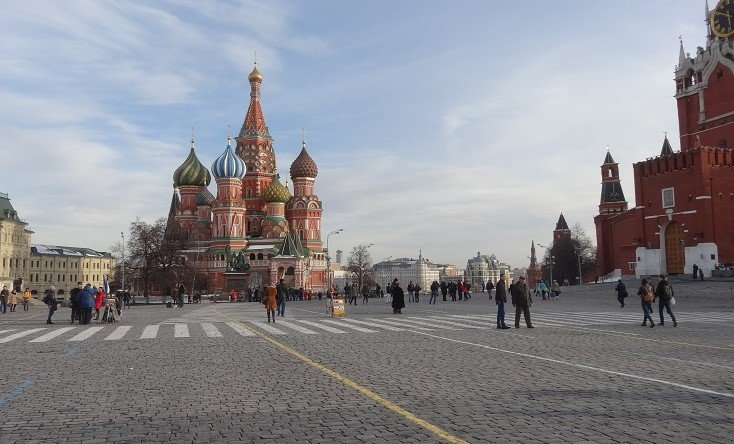 St Basil's Cathedral in Red Square
