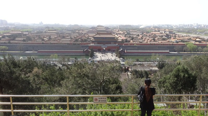 You get a fantastic view of the Forbidden City from the top of the hill in Jingshan Park