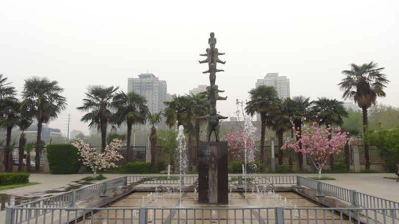 Gardens near the Shaanxi History Museum