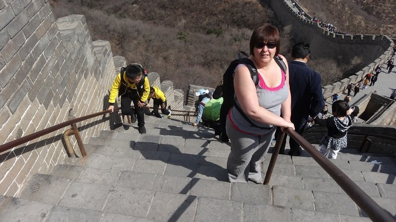 Some sections of the Great Wall are very steep