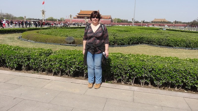 Our 3 Days in Beijing Angela in Tiananmen Square