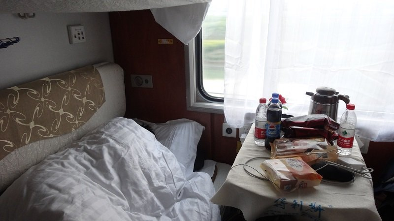 Getting a good night's sleep in a Deluxe Soft Sleeper Compartment