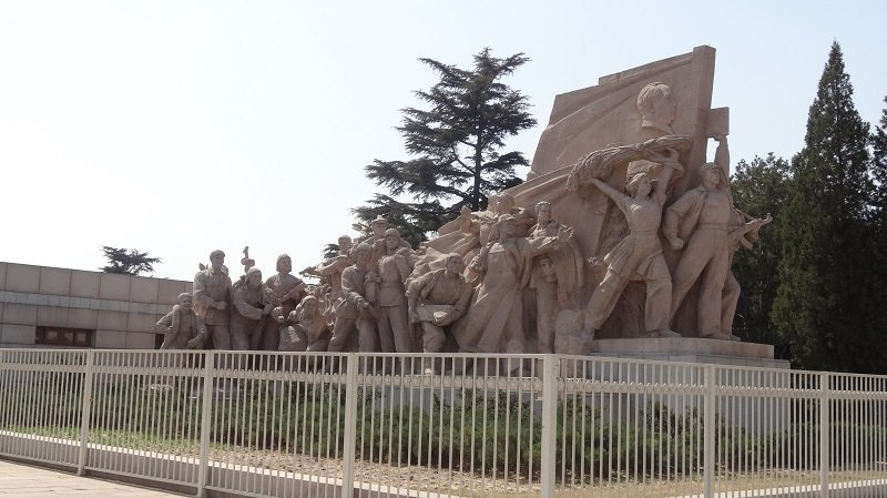Statue Outside the Memorial Hall of Chairman Mao