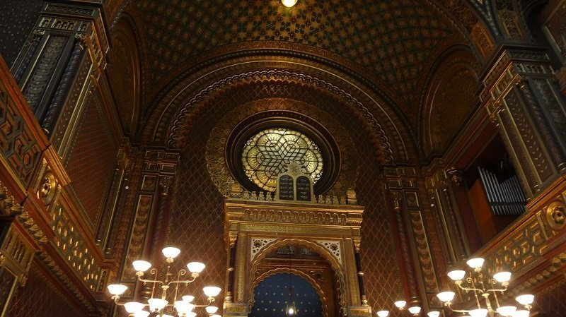 Inside one of Prague's Synagogues