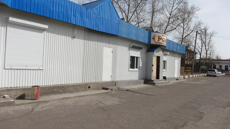 The main store in the town of Zabaikalsk on the Russian side of the Russian-Chinese Border