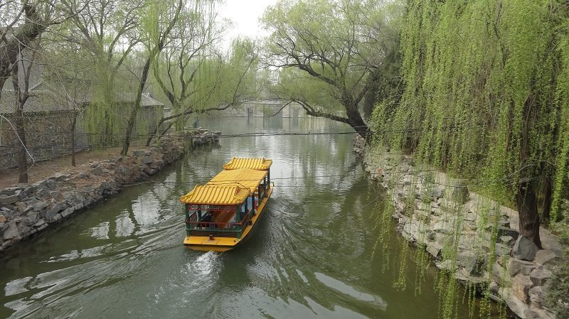 Take a boat ride at the Summer Palace