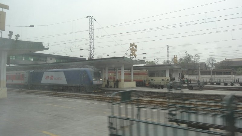 View from the window on the Beijing to Xian Train