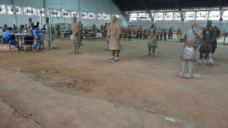 Renovation area where work is carried out on the Terracotta Army