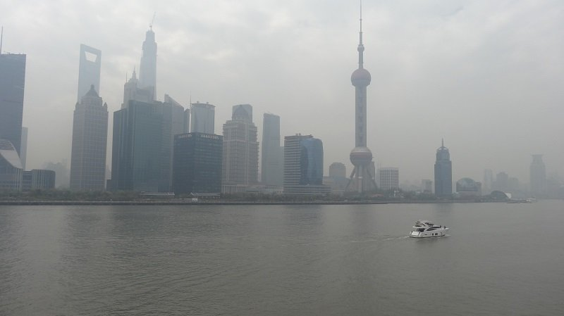 A misty day on the Shanghai to Japan Ferry