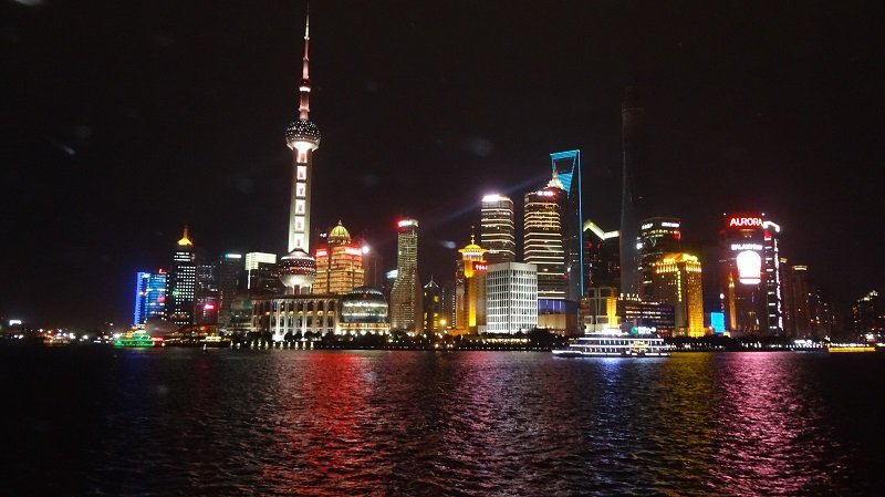 Shanghai Skyline at Night from the Bund