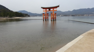 Osaka 2 Day Itinerary The Floating Torri Gate on Miyajima Island