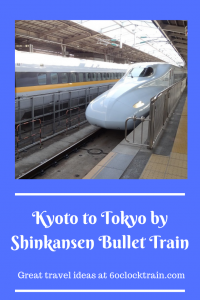 From the ancient capital to the modenr one. Take a ride on the famous Japanese bullet train or shinkansen from Kyoto to Tokyo. Get a glimpse of Mount Fuji as you speed through the Japanese countryside. This is the fast and comfortable way to travel between Kyoto and Tokyo.