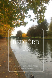 Take a walk along the Great River Ouse in the centre of Bedford. Discover autumns colours, wildlife and historical sights on this great day out in the UK.