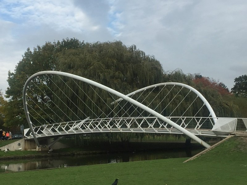 Close up view of Butterfly Bridge Bedford