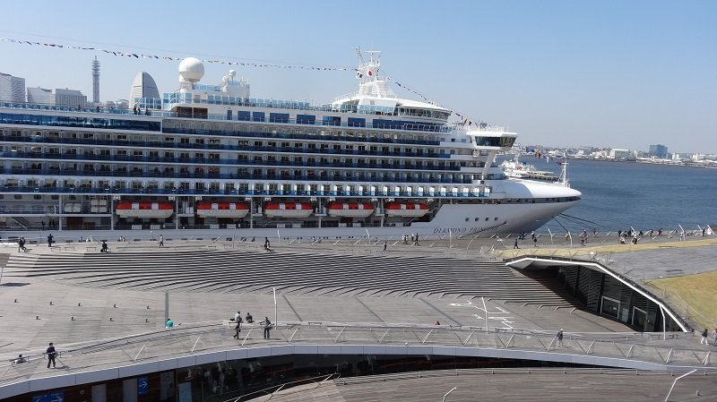 Diamond Princess in Yokohama Cruise Port