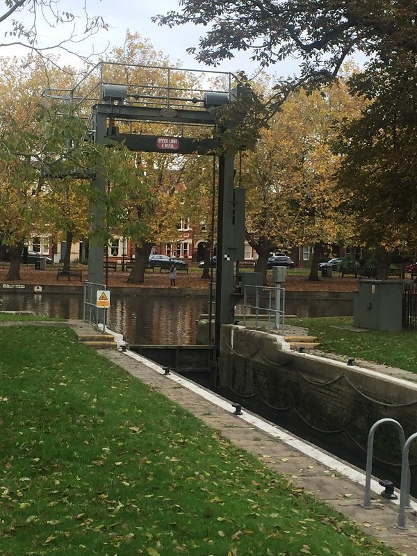 The lock on the River Ouse Bedford