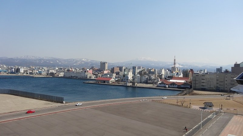 View from the Bridge in Aomori Cruise Port
