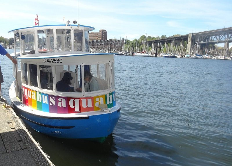2 days in Vancouver Taking the Aquabus