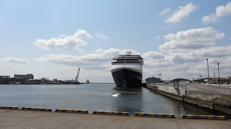 Holland America's Ship Volendam in Kushiro Japan