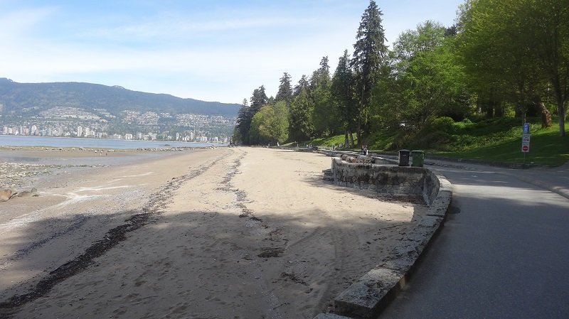 Walking along the beachfront in Stanley Park 2 Days in Vancouver
