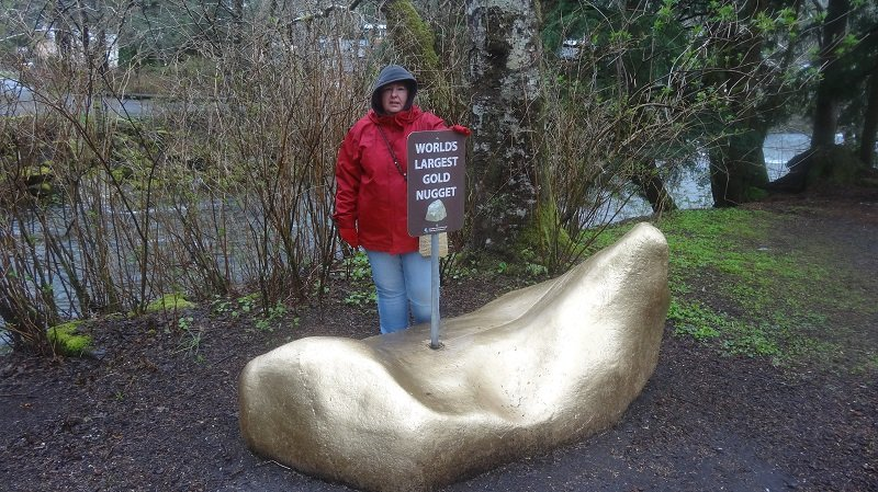 World's Largest Gold Nugget in City Park Ketchikan