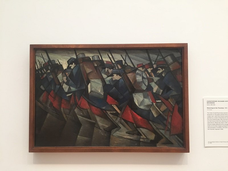 Returning to the Trenches by C.R.W. Nevinson