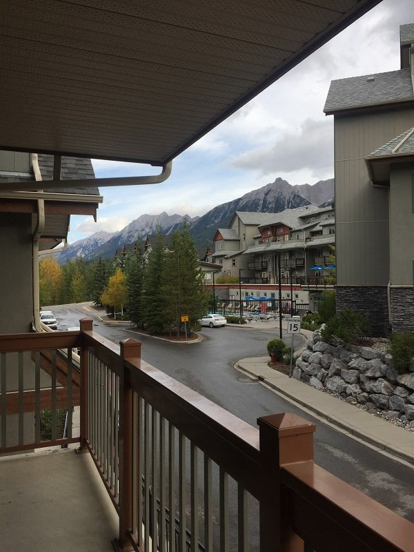 Lodges at Canmore View from the Balcony