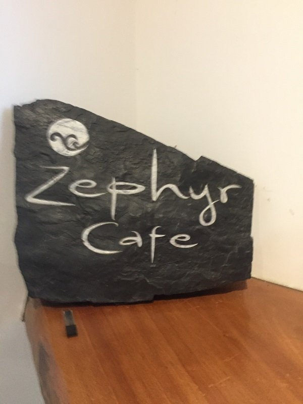 On the road from Vancouver to Whistler Zephyr Cafe in Squamish