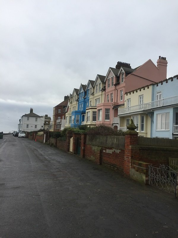 Coloured Houses along the Beachfront