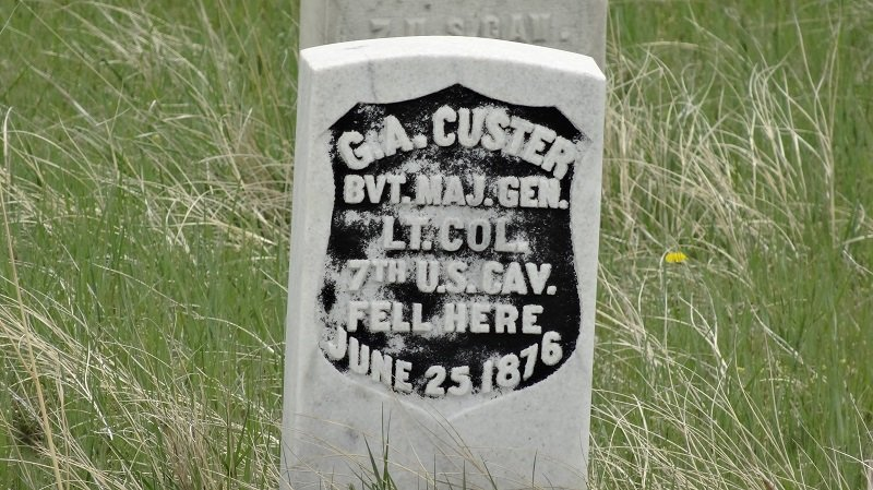 Seattle to Florida Road Trip Memorial marking where General Custer Died