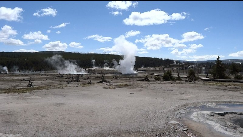 Seattle to Florida Road Trip Geothermal Activity at Yellowstone National Park