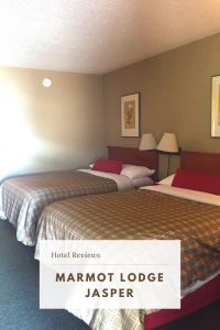 A review of Marmot Lodge Jasper. Situated on the main street, on the edge of town, Marmot Lodge offers clean, comfortable accommodation and free parking. #JasperHotels #MarmotLodgeJasper
