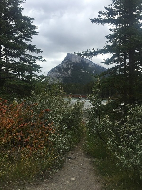 2 Days in Banff Mount Rundle from the Bow River Trail
