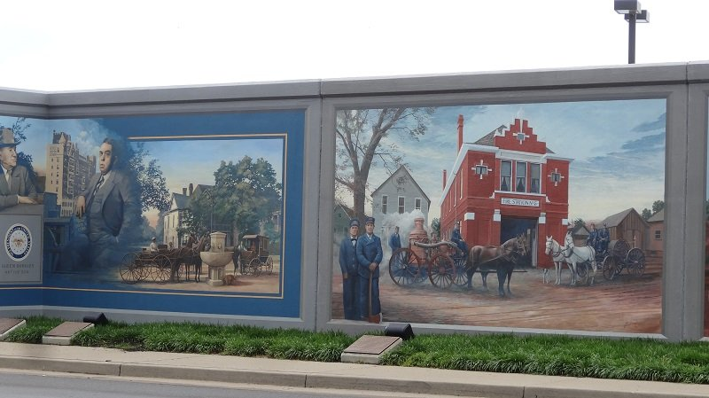 Murals on the Levee Wall
