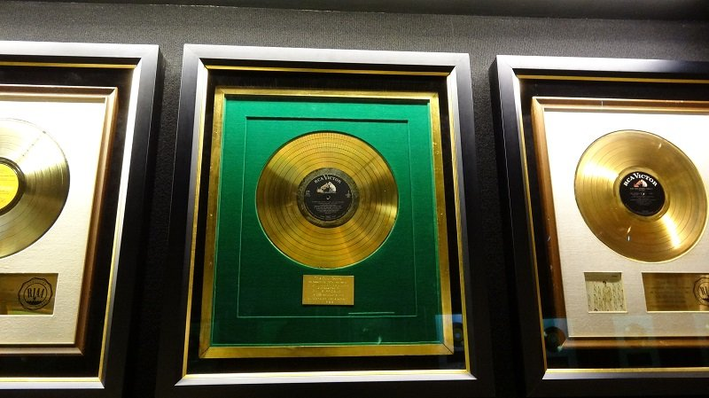 You can see Elvis's Record Awards