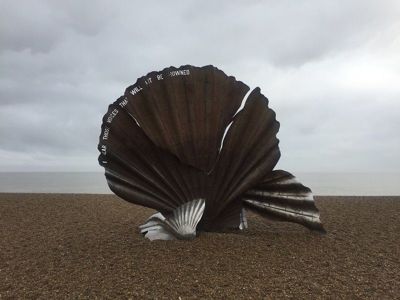 The Scallop Sculpture in Aldeburgh Suffolk