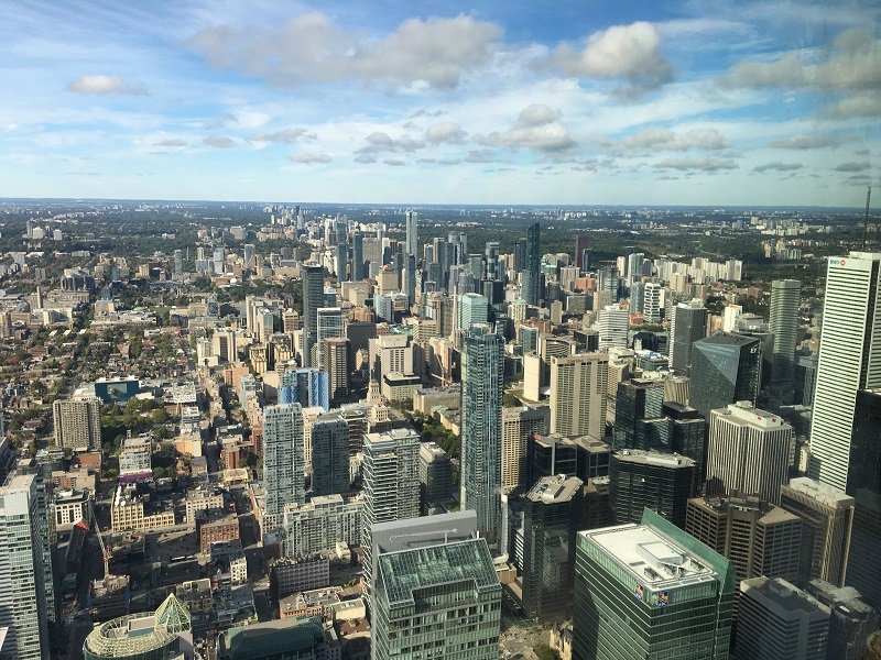 Downtown Toronto from the top of the CN Tower