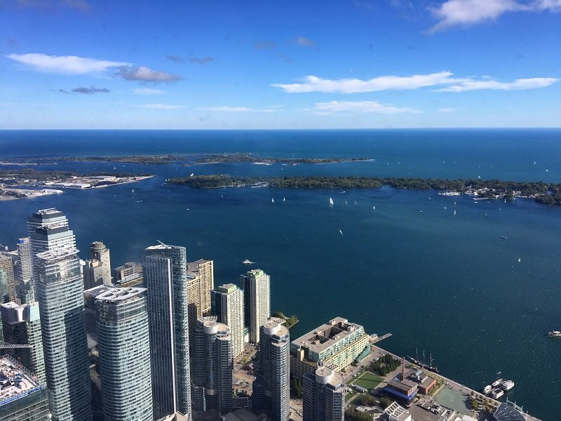 View from the top of the CN Tower